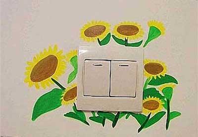 5款开关手绘墙图…; 开关手绘墙-开关墙绘素材30; 家装彩绘